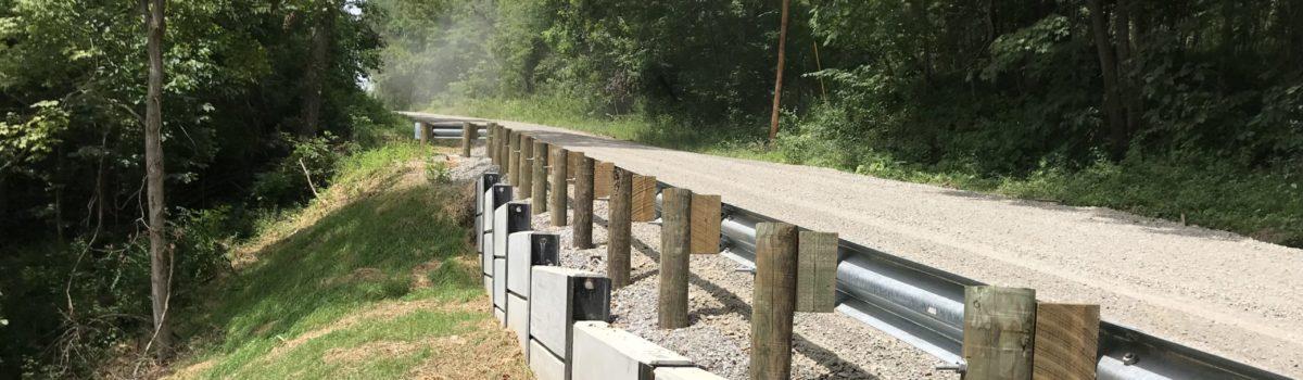 CR 36-3.63 Hooper Ridge Road Slip Repair Progression